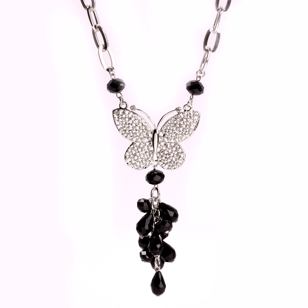 Butterfly & Flower Pendant