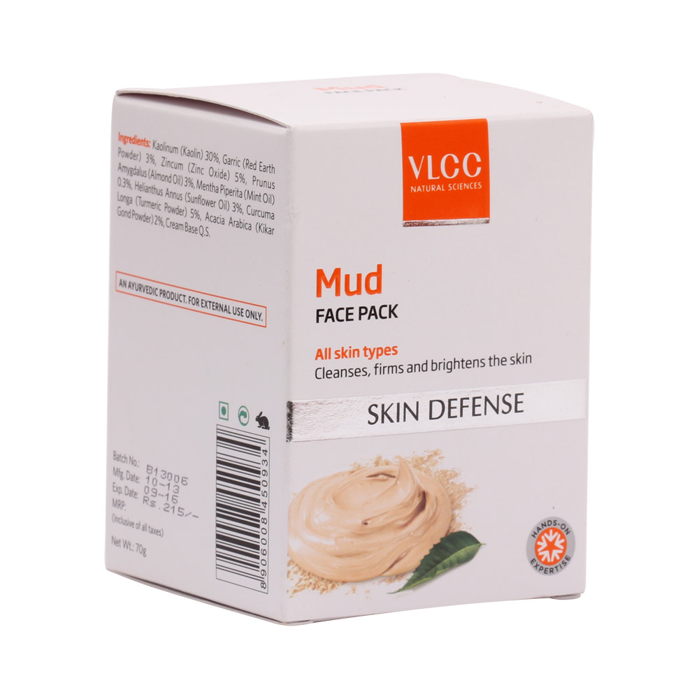 VLCC Skin Defense Mud Face Pack (70gm) (New Packaging)