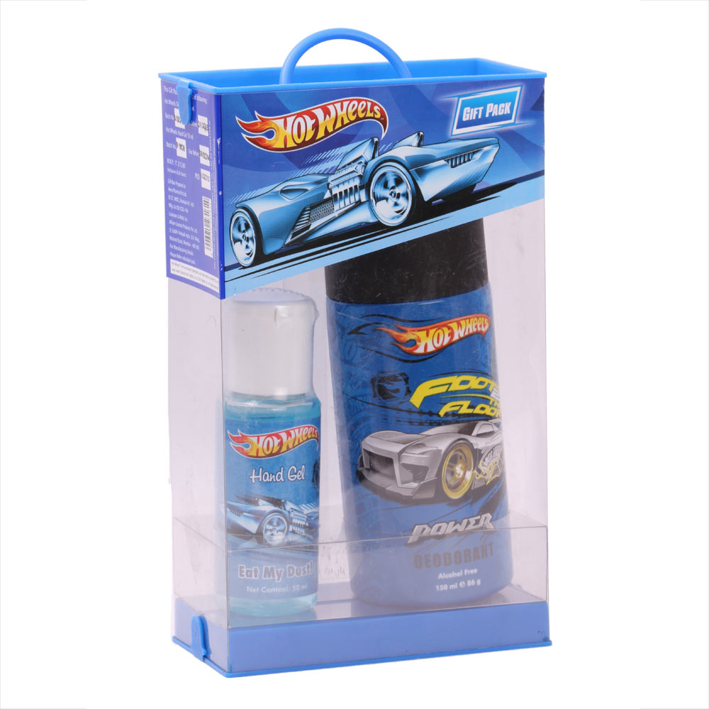 Disney Hot Wheels Foot 2 The Floor Power Deodorant (150ml)& Hot Wheels Hand Gel Eat My Dust (50ml) (Combo)