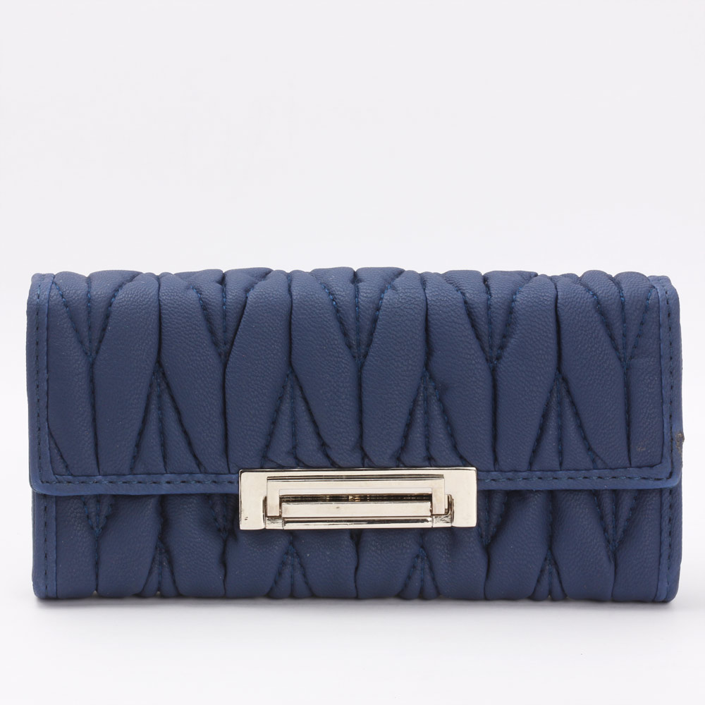 Aristocratic Leather Clutch (Blue)