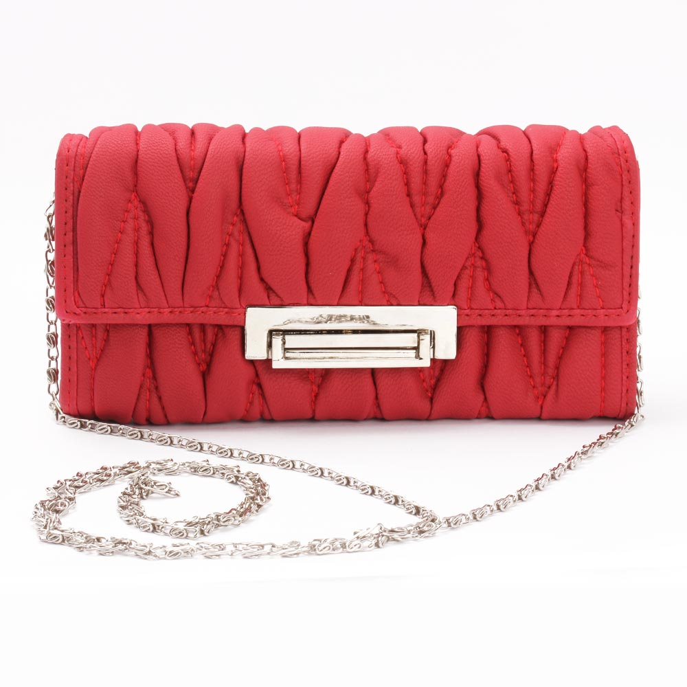 Aristocratic Leather Clutch (Red)