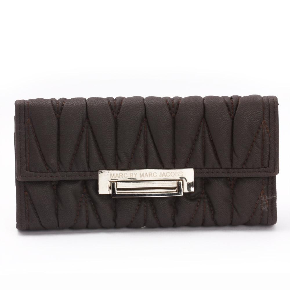 Aristocratic Leather Clutch (Dark Brown )
