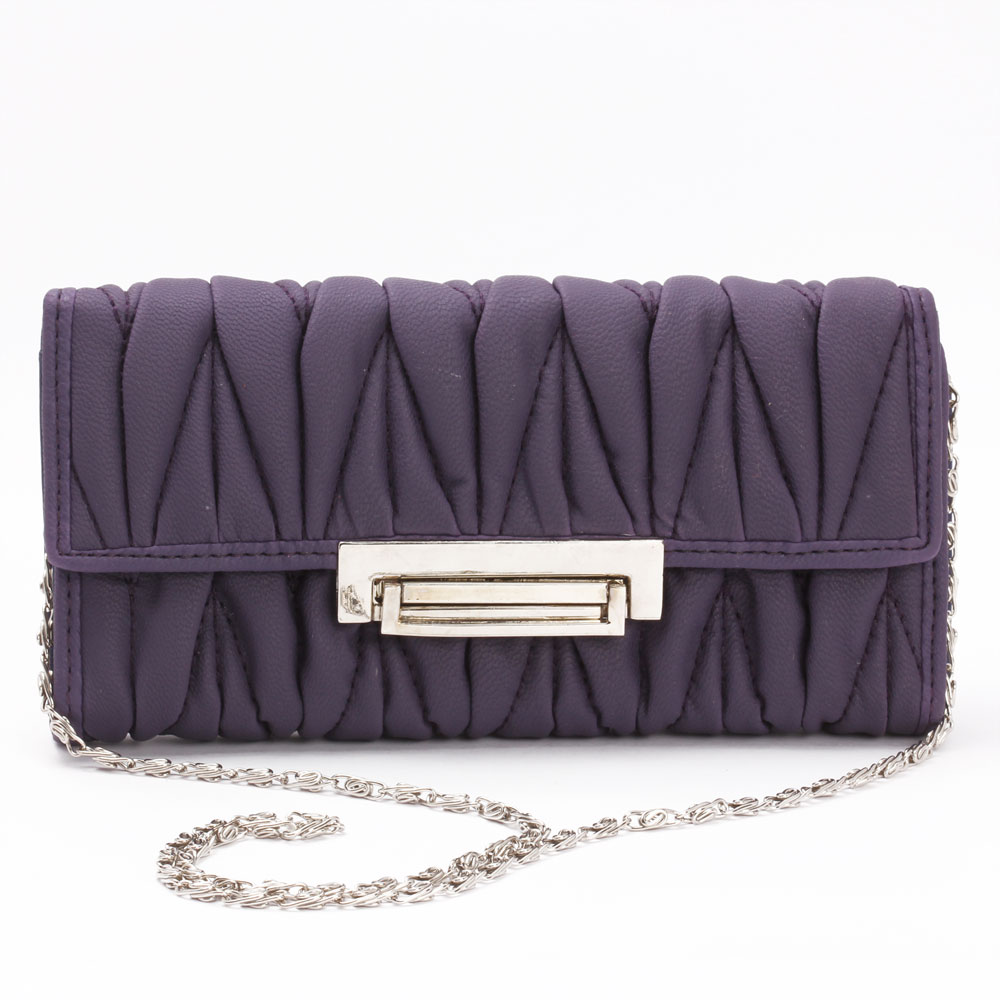 Aristocratic Leather Clutch (Purple)