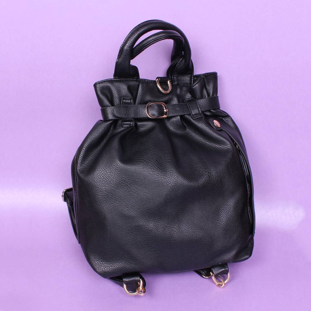 Eleegance Glamorous and Stunning Black Colored Handbag cum Backpack