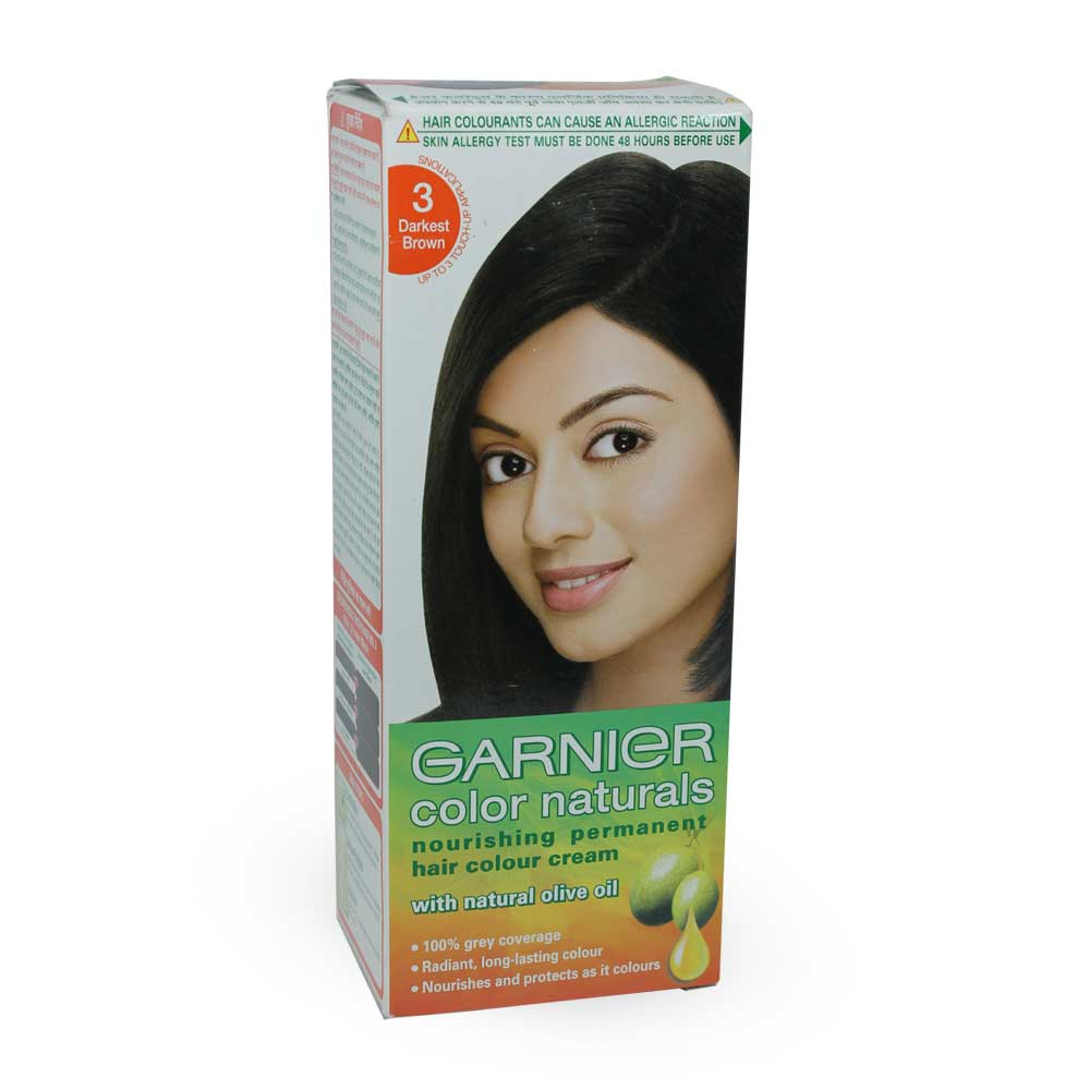 Garnier Color Naturals Hair Color- Darkest Brown 3