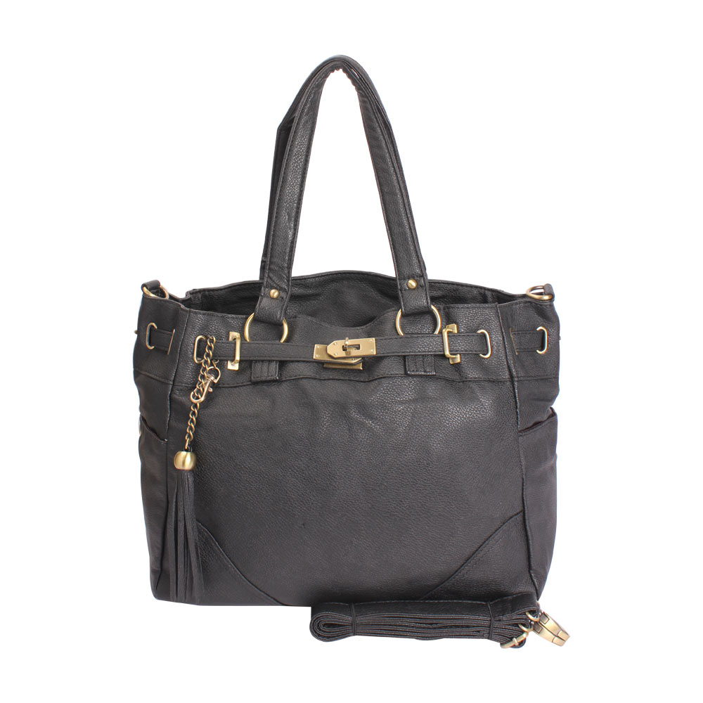 AAR Elegant & Trendy Black Leather Handbag