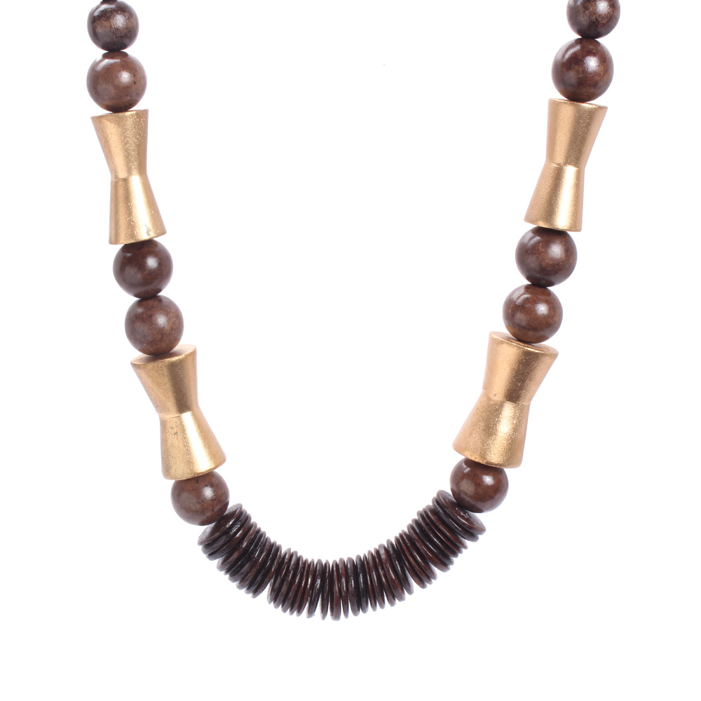 Eternal Wooden rings and Beaded Necklace (KhoobSurati)