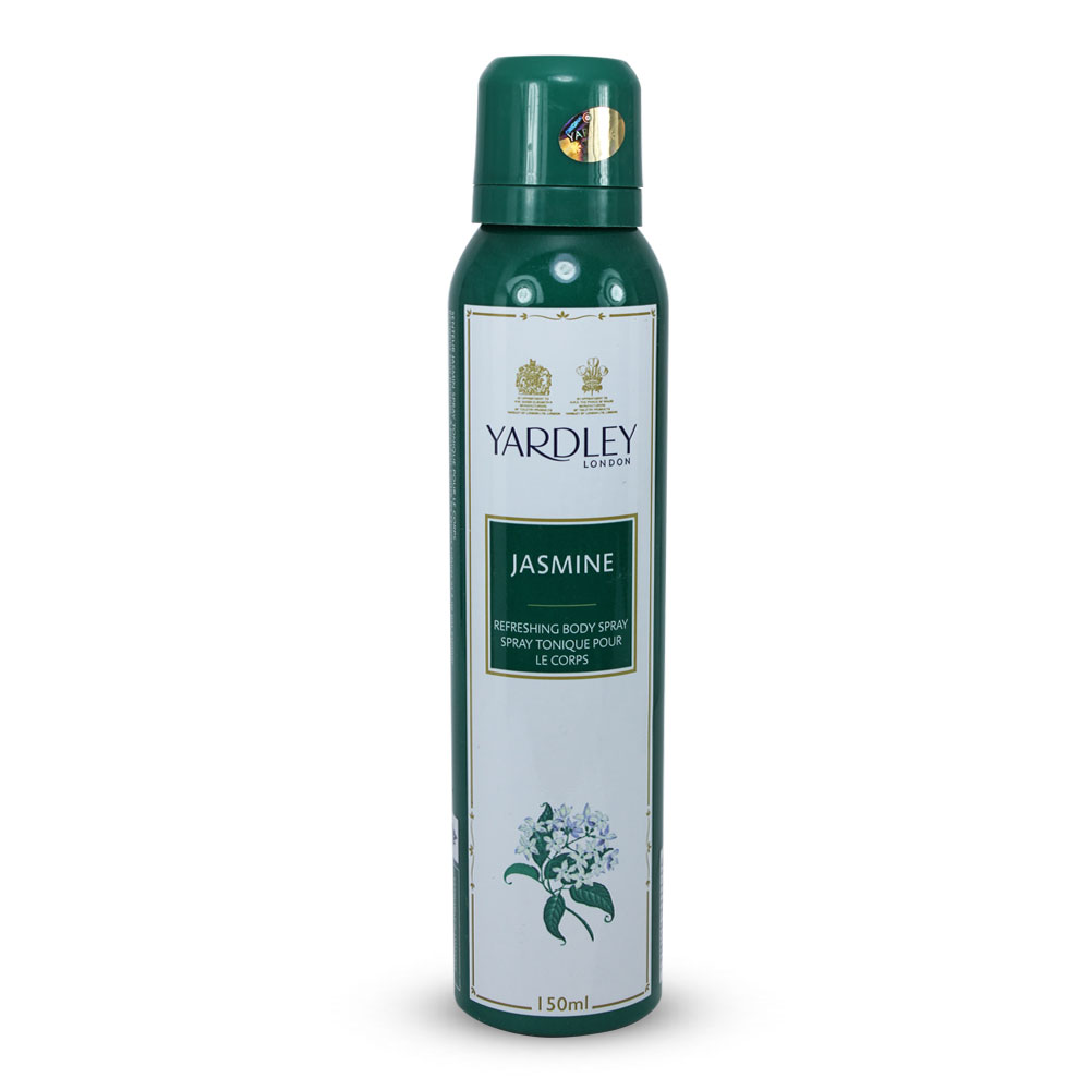 Yardley Jasmine Refreshing Body Spray For Women (150ml) (New MRP)