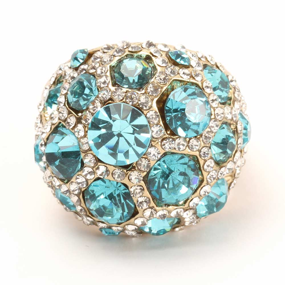 Diamond Blue Stone Studded Ring