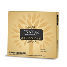 Inatur Herbals 24K Gold Glow Facial Kit - 65 gm