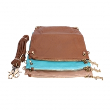 Trendy Detachable Tri-alcove Slingbag (Sky Blue-Brown) (Khoobsurati) Online Shopping