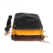 Trendy Detachable Tri-alcove Slingbag (Yellow-Black) (Khoobsurati) Online Shopping