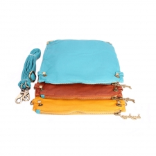 Trendy Detachable Tri-alcove Slingbag (Sky Blue-Orange) (Khoobsurati) Online Shopping