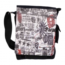 Leo Printed Black Sling Bag for Men USB-273-B Online Shopping