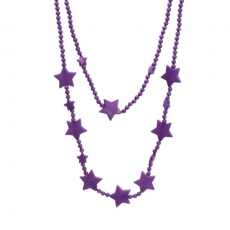 Purple crystal star neckpiece (KhoobSurati)
