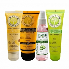 Inatur Herbals Skincare Combo (Summer Essentials for Oily Skin)