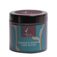 Natural Bath and Body Almond & Beeswax Body Butter (100ml)