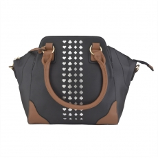 KH Fashionable Black & Brown Handbag For Women