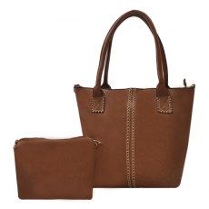 Khoobsurati Elegant Terra Cotta Color Hanbag with Cute Small Pouch