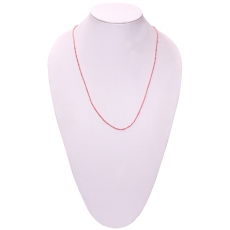 Zovon Neckstring Knitted with Gaudy Pink Thread